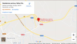 Localización de Peludos Residencia Canina y Felina